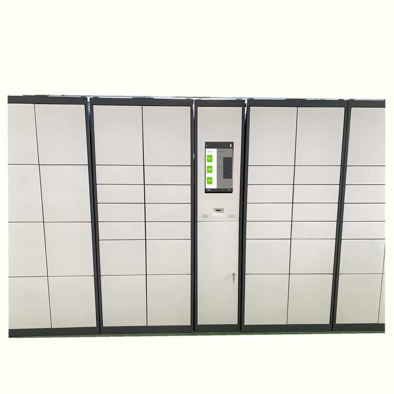 Eletronic Metal Steel Barcode Parcel Delivery Lockers , Intelligent Lockers Cabient Box
